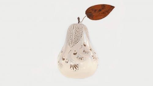 Lampe céramique - Poire - Blanc