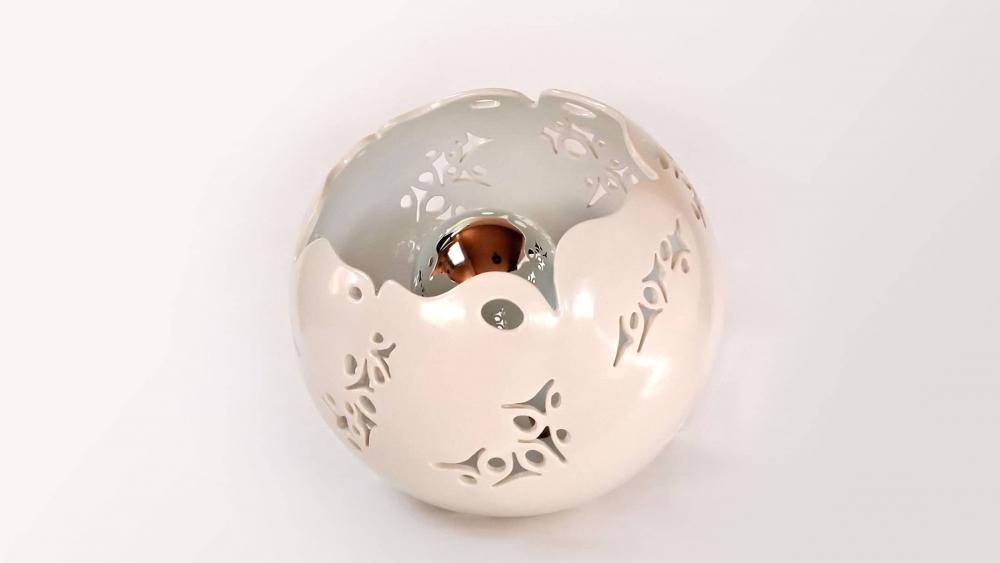 Lampe céramique Eclosion - Blanc