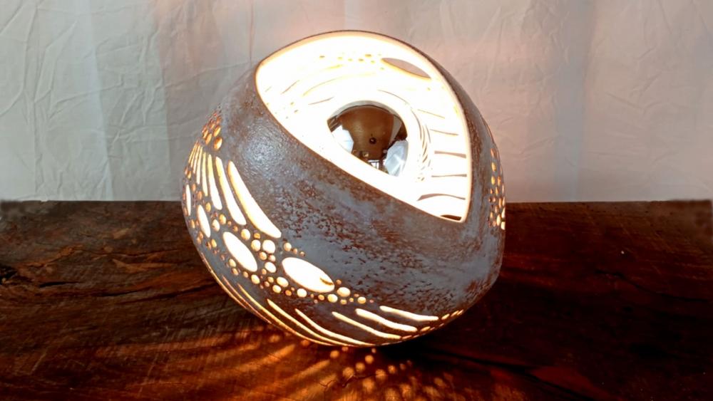 Lampe céramique - Gâline Blanc