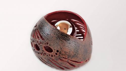 Lampe en céramique Galine Rouge