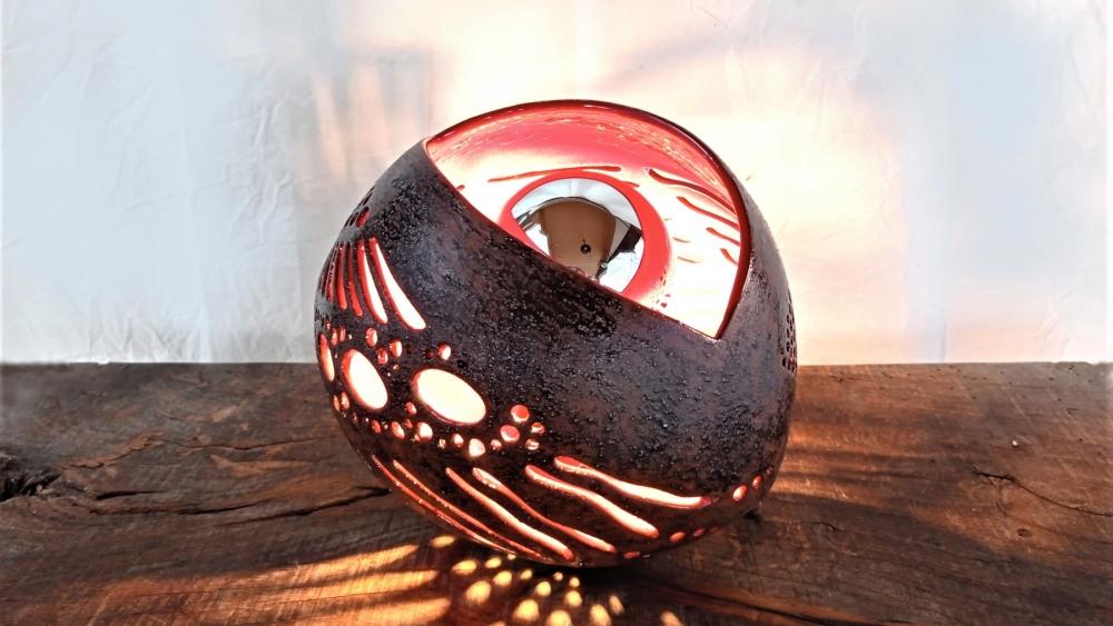 Lampe en céramique Gâline Rouge